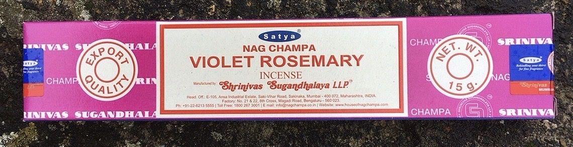 Incenso Bastoncini Satya Violet Rosemary Sat122
