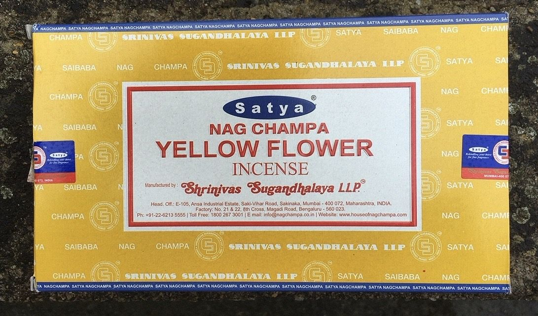 Incenso Satya Yellow Flower Sat126