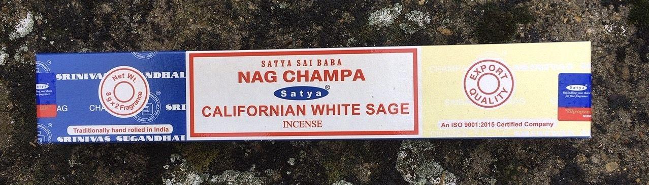 Incenso Satya Nag Champa Salvia Bianca Sat128