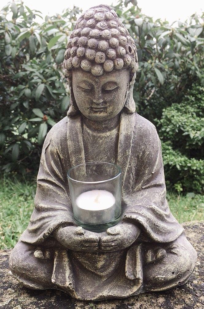 Statua Buddha Vetro Cemento 0150