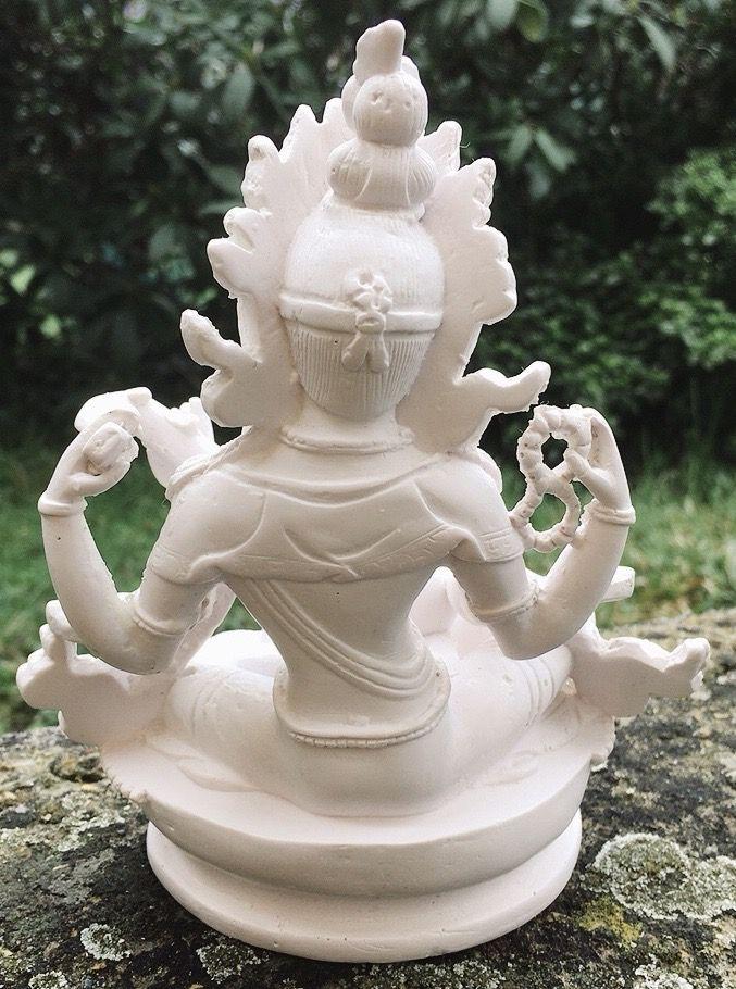 Statua Saraswati Bianca 17291