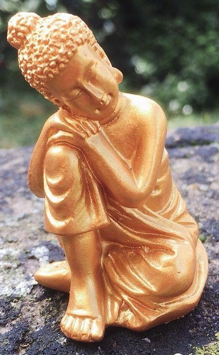 Statua Buddha Riposo con Borsina 0110