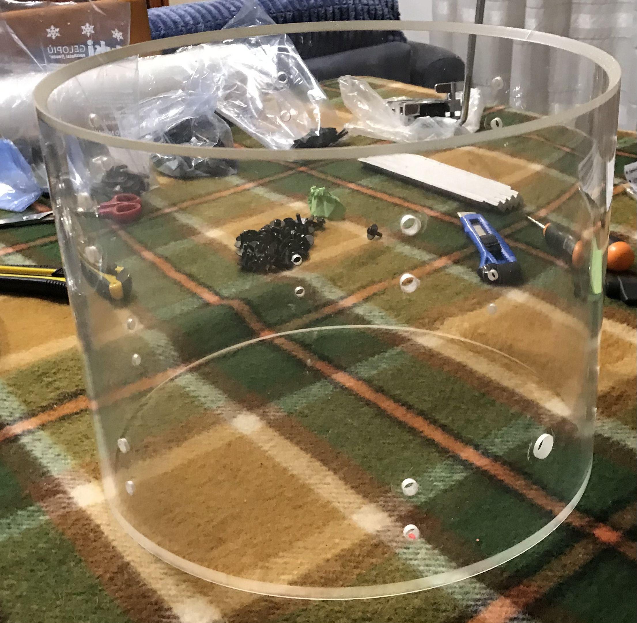 Batteria acustica kit set 4 pezzi acrilica traspar