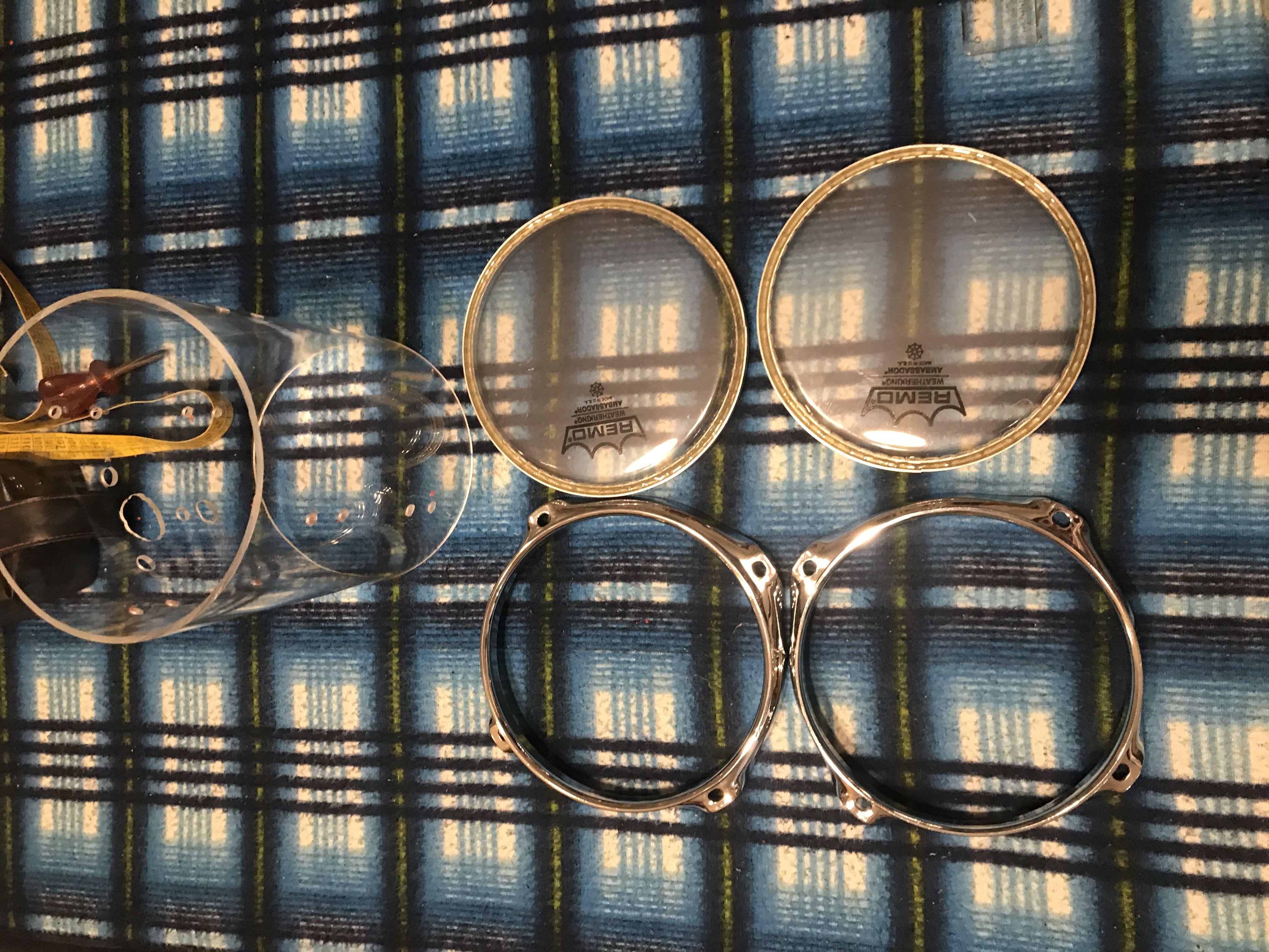 Fusto acrilico trasparente 8�x 7�