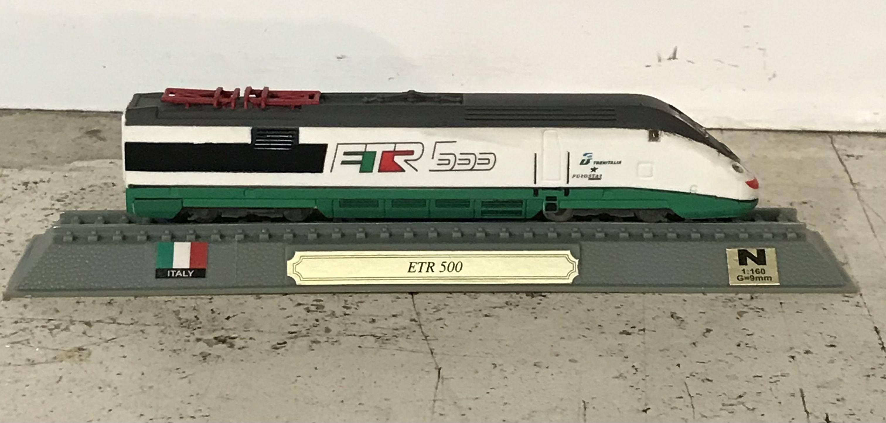 Locomotore statico ETR 500 Fs scala N 1:160