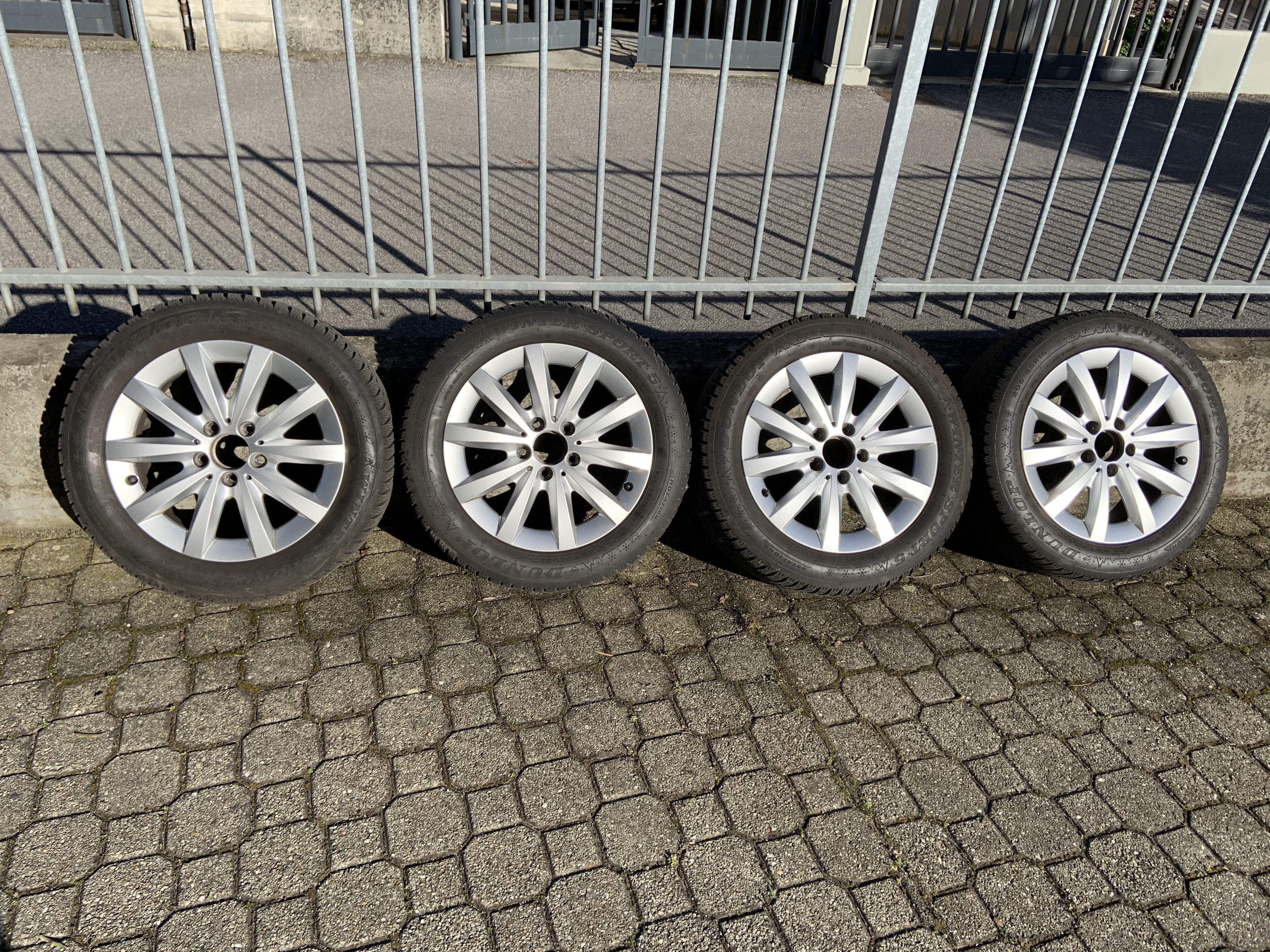 Cerchi con gomme invernali, originali Mercedes