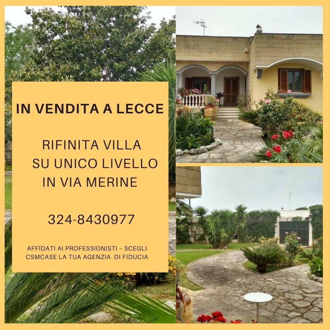 Villa Su unico livello  Lecce � via Merine