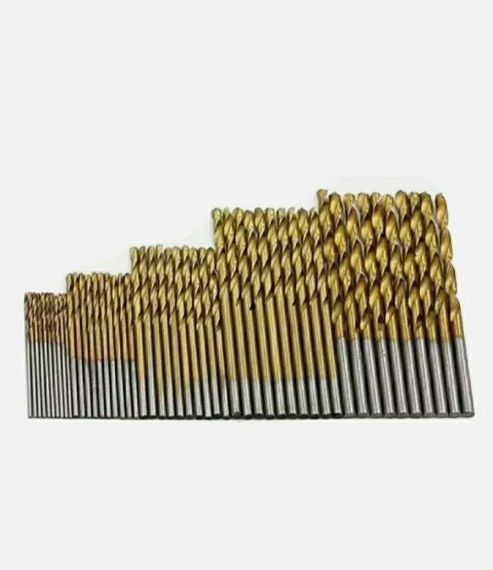 Set 50 mini punte trapano elicoidali misure 1-3 mm