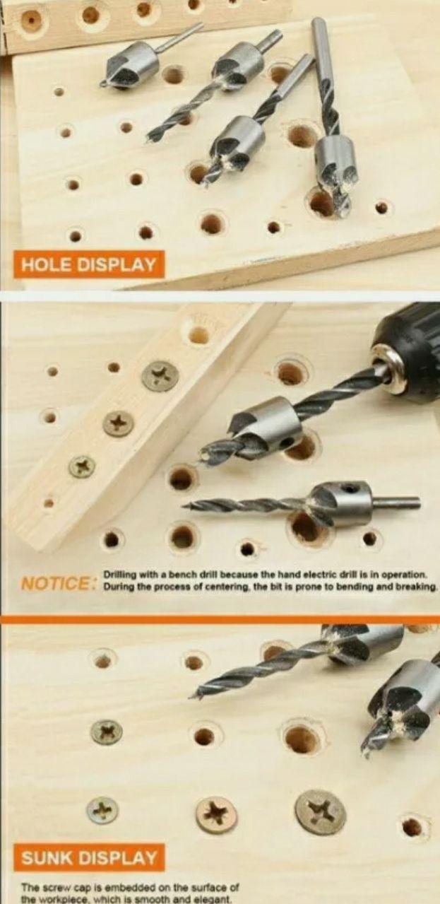 7 punte trapano svasatrice svasatore per legno