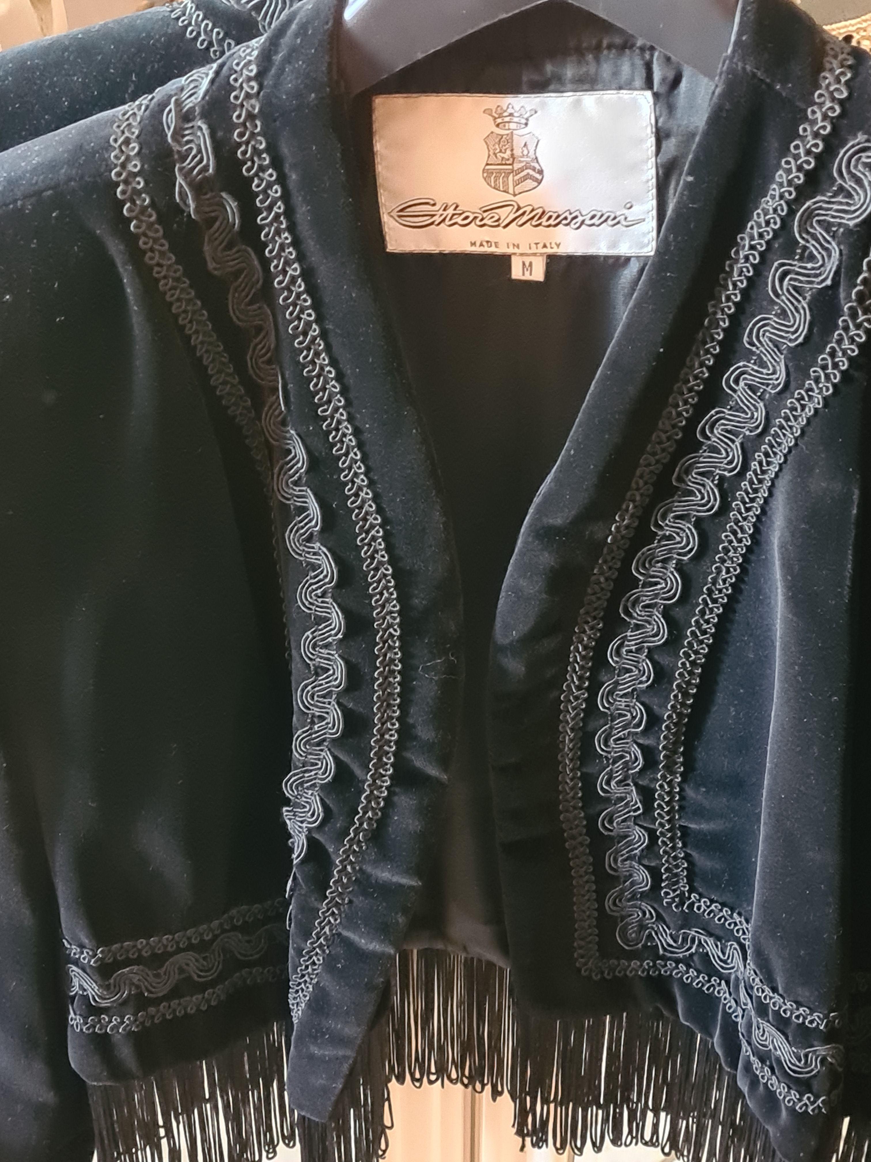 Giacca Bolero in velluto nero taglia M
