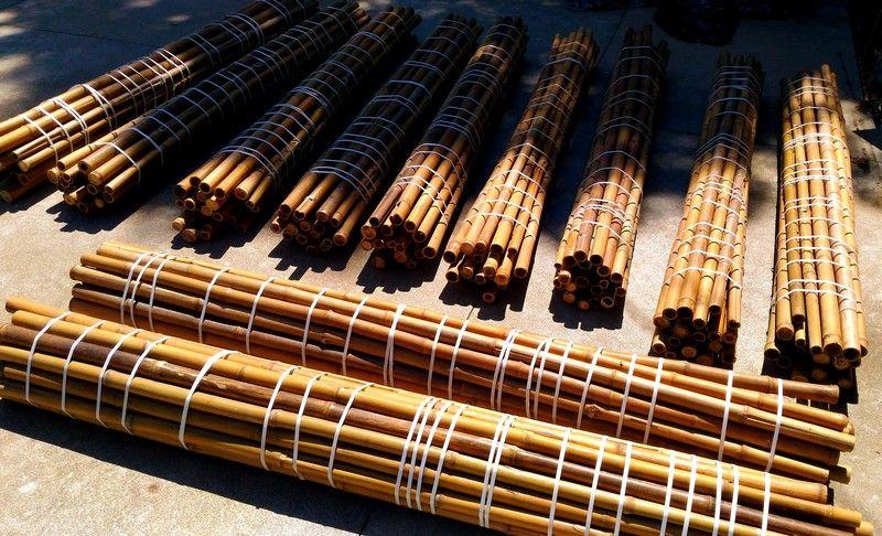 Vendo canne di bambù bambu con diametro da 1 a 10