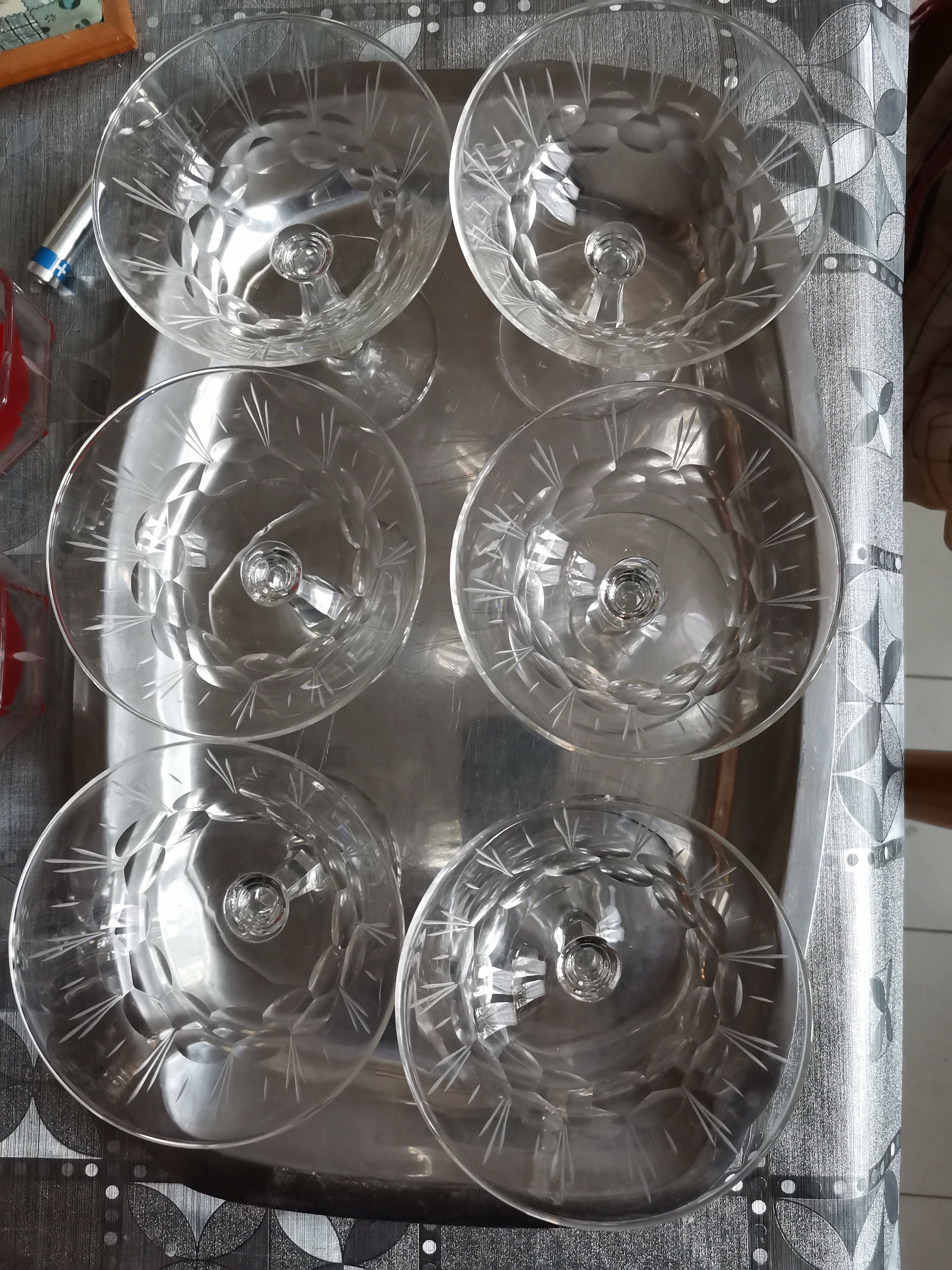Vassoio coppette per Champagne ciotole per macedon